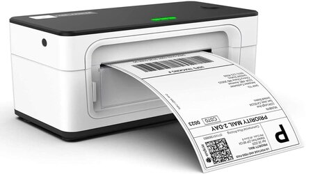 MUNBYN white and black Thermal Shipping Label Printer